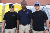 2018 Chad and Kevin with Dr. Ben Carson in Wilmington, NC